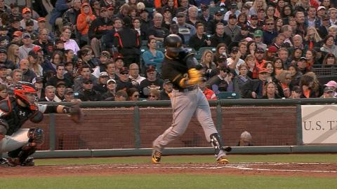PIT@SF: Cutch collects four hits in win