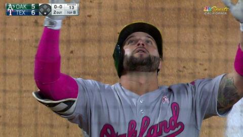 OAK@TEX: Alonso hits a solo home run to right field