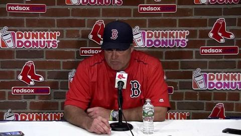 TB@BOS: Farrell talks about injuries, Red Sox's win
