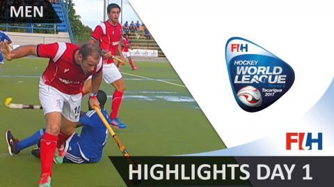 Highlights day 1 - 2017 Men Hockey World League Round 2, Tacarigua