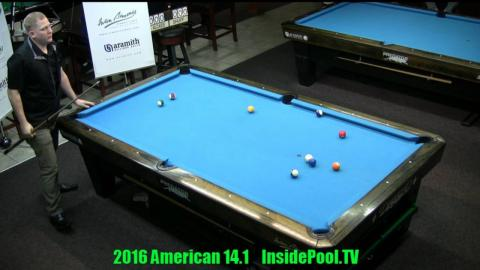 2016 American 14 1 Tournament Brandon Shuff VS David Alciade
