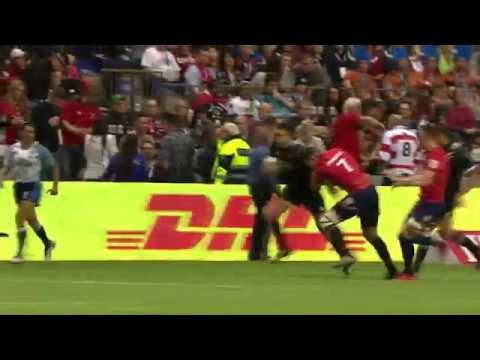 Ambrose Curtis with the pace at the Canada Sevens