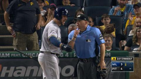 MIL@PIT: Counsell, Shaw get tossed for arguing strike