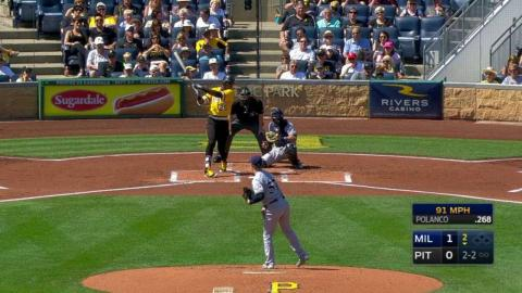 MIL@PIT: Anderson retires Polanco with a strikeout