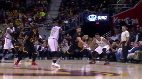 Kyrie Irving Between the Legs Pass to LeBron James