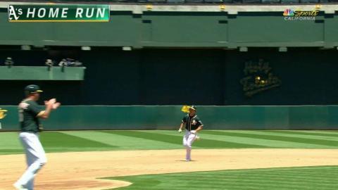CWS@OAK: Brugman belts a solo homer to center field