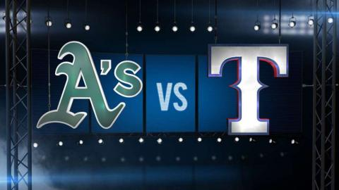 9/11/15: Lewis nearly perfect as Rangers down A's