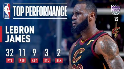 LeBron James Gets a Near Triple-Double in Win vs. Kings | December 6, 2017