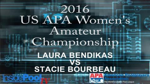 2016 U S  APA Womens Amateur Championship Laura Bendikas vs Stacie Bourbeau
