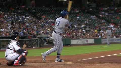 KC@HOU: Perez puts Royals on the board with solo shot