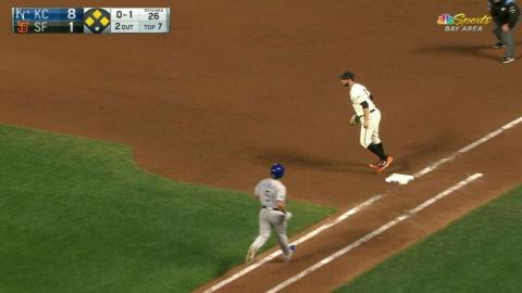 KC@SF: Gearrin gets out of a bases-loaded jam