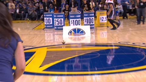 Fan Wins $5,000 Off Steph Curry Assist | 02.25.17