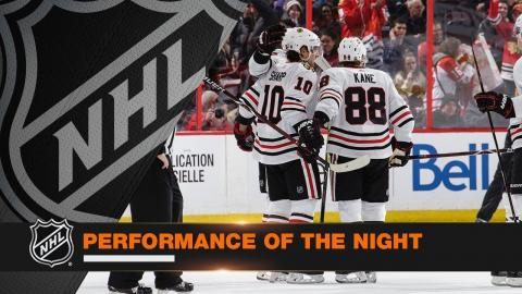 Patrick Kane leads Hawks with five-point night