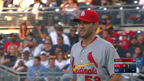 STL@SD: Wacha beats Upton Jr. to first for the out