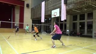 20150503FUMA Badminton Club MD小鄭+小莊vs杜老師+惠齡WD