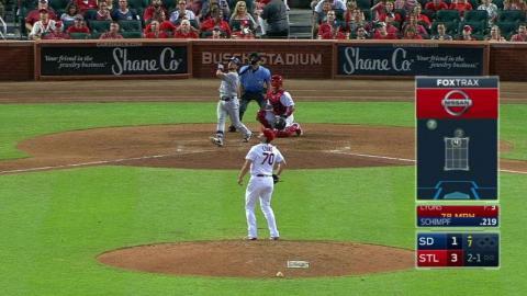 SD@STL: Schimpf launches a solo home run to right