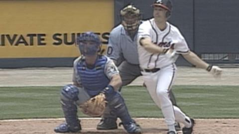 LAD@ATL: Maddux hits a solo home run off Brown