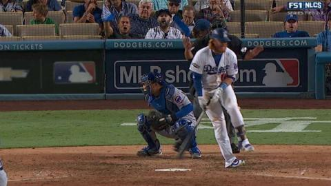 NLCS Gm5: Turner gets plunked by Strop in the 8th