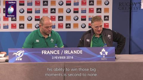 Joe Schmidt on Johnny Sexton's drop goal against France | NatWest 6 Nations