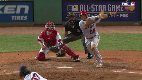 LAA@BOS: Perez clears the bases with a double