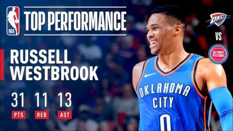 Russell Westbrook Erupts For A 31-Point Triple-Double | January 27, 2018