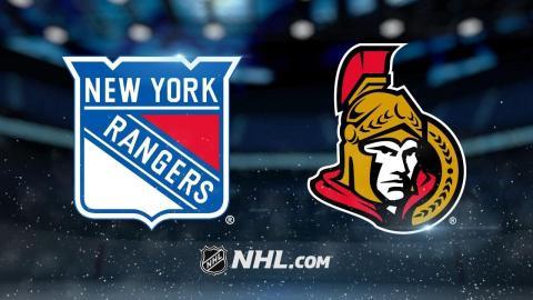 Senators snap skid with 3-2 win against Rangers