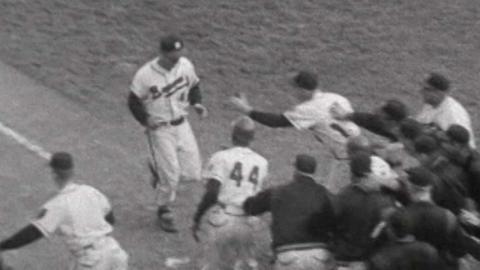WS1957 Gm4: Mathews hits a walk-off homer for Braves
