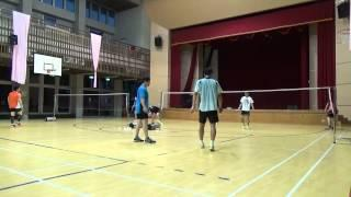 20150503FUMA Badminton Club MD北極熊+施貴均vs致廷+張逢嘉