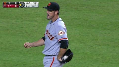 SF@ARI: Nathan strikes out Gosselin swinging