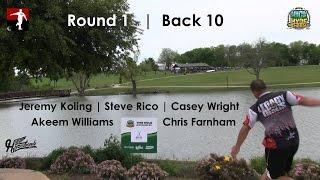 The Disc Golf Guy - Vlog #273 - Koling Rico Williams Wright Farnham Rnd 1 Back 10 - Nick Hyde