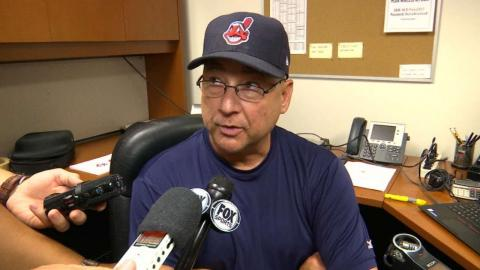 CLE@MIN: Francona discusses great offense in win