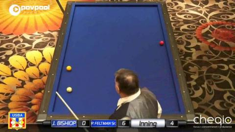 "3  • Paul FELTMAN, Sr. vs Jim BISHOP • 2017 USBA / Gabriels 3 Cushion ""B"""