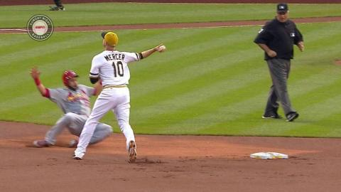 STL@PIT: Pirates turn a 4-6-3 double play in the 1st