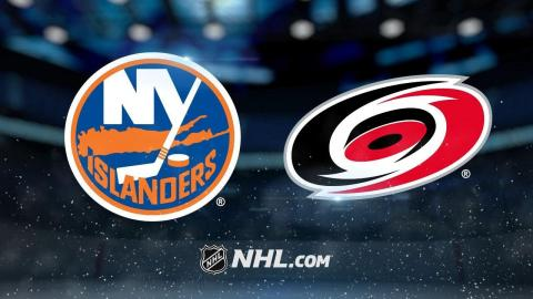 Greiss makes 45 saves as Isles blank Hurricanes, 3-0