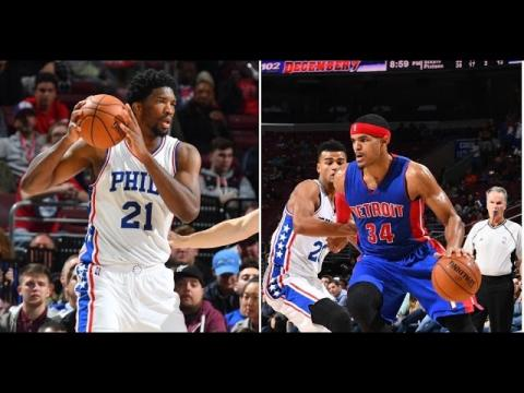 Tobias Harris & Joel Embiid Duel in Philly