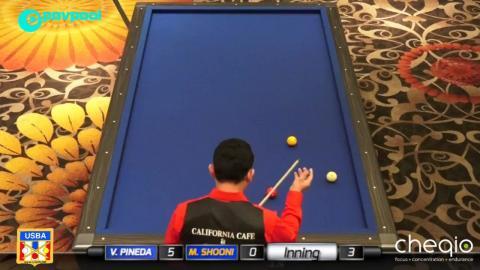 16 • Mazin SHOONI vs Vicke PINEDA • 2017 USBA / Gabriel's 3C Open