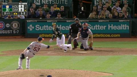 HOU@OAK: Correa reacts to deflection and gets the out
