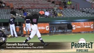 Kenneth Bautista Prospect Video, OF, Puerto Rico Baseball Academy Class Of 2015