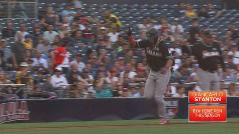 MIA@SD: Stanton hammers a solo homer to left field