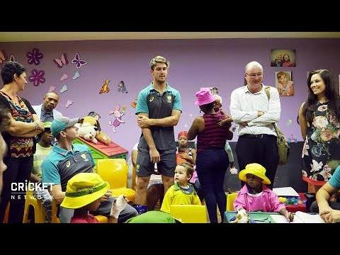 Aussies bring a smile to brave kids