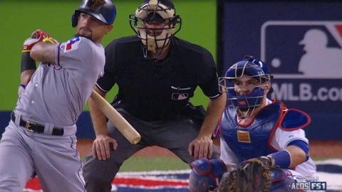 TEX@TOR Gm1: Odor gets plunked twice, homers in win