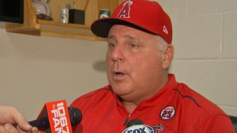 LAA@BAL: Scioscia on Ramirez's injury, Valbuena's HRs