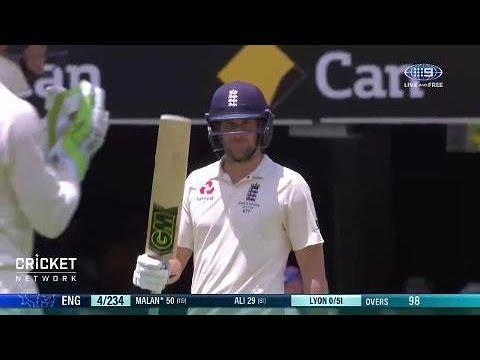 Malan powers to Ashes fifty at the Gabba