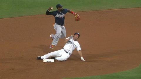 ATL@SD: Cordoba brings home a run on fielder's choice