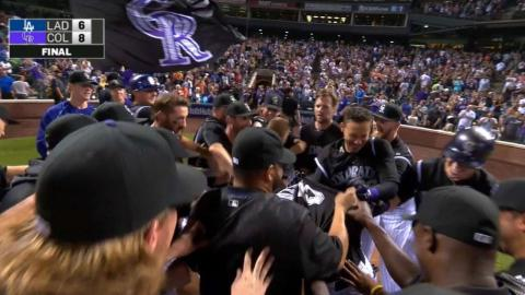 Rockies walk off on CarGo's two-run homer