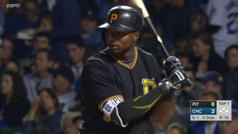 PIT@CHC: Polanco singles to break up perfect game