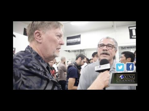Stitch Duran at Mayweather Workout
