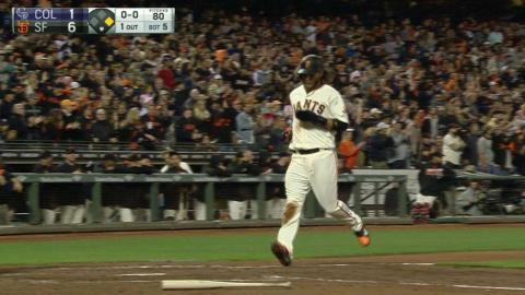 COL@SF: Pagan extends the lead with an RBI single