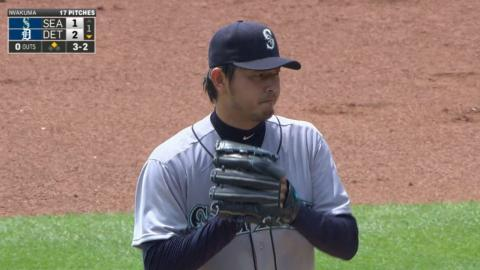 SEA@DET: Iwakuma holds Tigers to two in no-decision