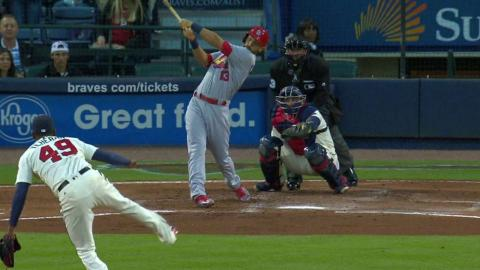 STL@ATL: Carpenter hits an RBI double to right field